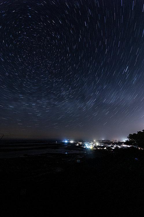 Star Trails Cobo View Point - Portrait (2021)