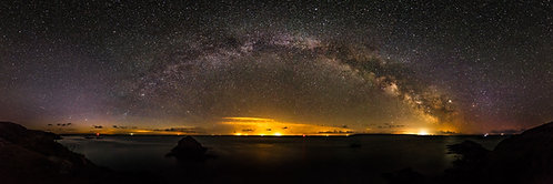 Milky Way Pano over Alderney and France