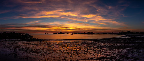 Grande Rock Sunset Pano - Guernsey 2