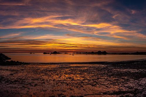 Grande Rock Sunset Pano - Guernsey 2
