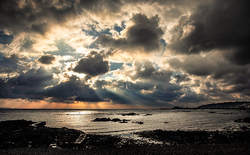 Light Rays from the Bordage - Guernsey