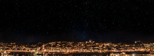 Galactic Guernsey from the crane - St Peter Port