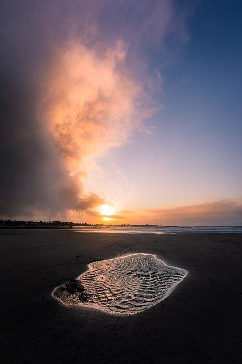 Vazon Storm Sunset Puddle