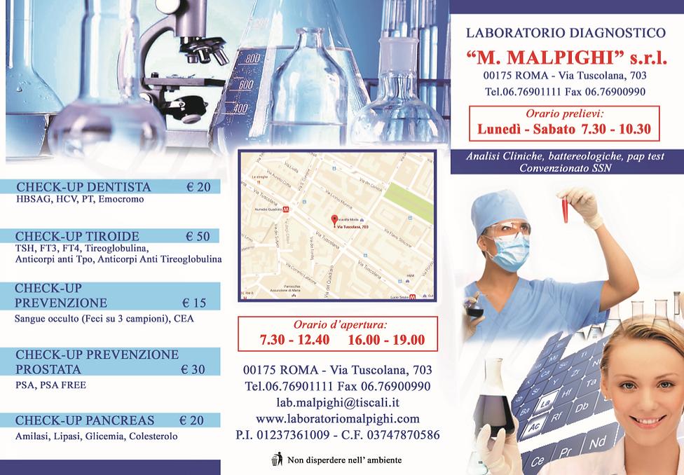 Promozioni check up mediche- Laboratorio Malpighi Roma Tuscolana