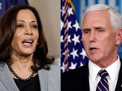 Harris and Pence Bond Backstage Over Love of Cops and Fracking
