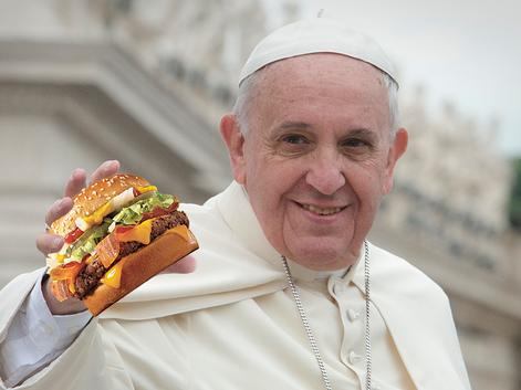 Pope Endorses Travis Scott Burger as Valid Communion Substitute