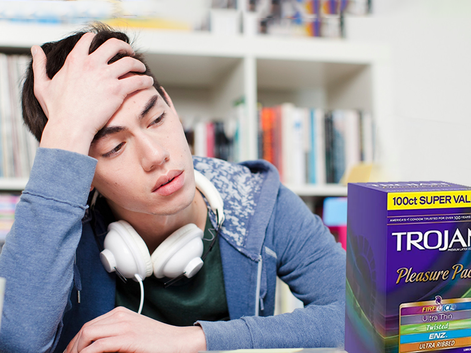 "BU Student Longingly Looks At Box Of Condoms, Sighs ""Maybe Next Year"""