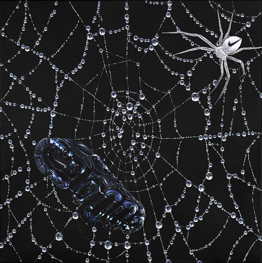 can't get trapped in your own web-painti