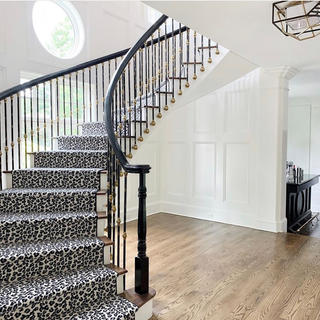 ANIMAL PRINT STAIR RUNNER