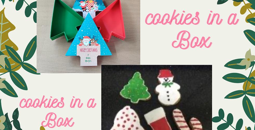 Cookies in Fun xmas boxes