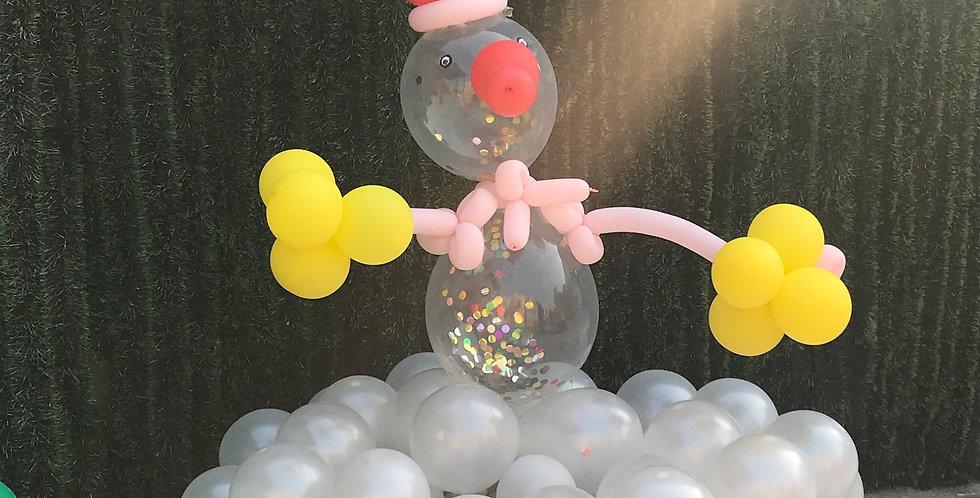 Xmas Snowman Balloon POP-Art