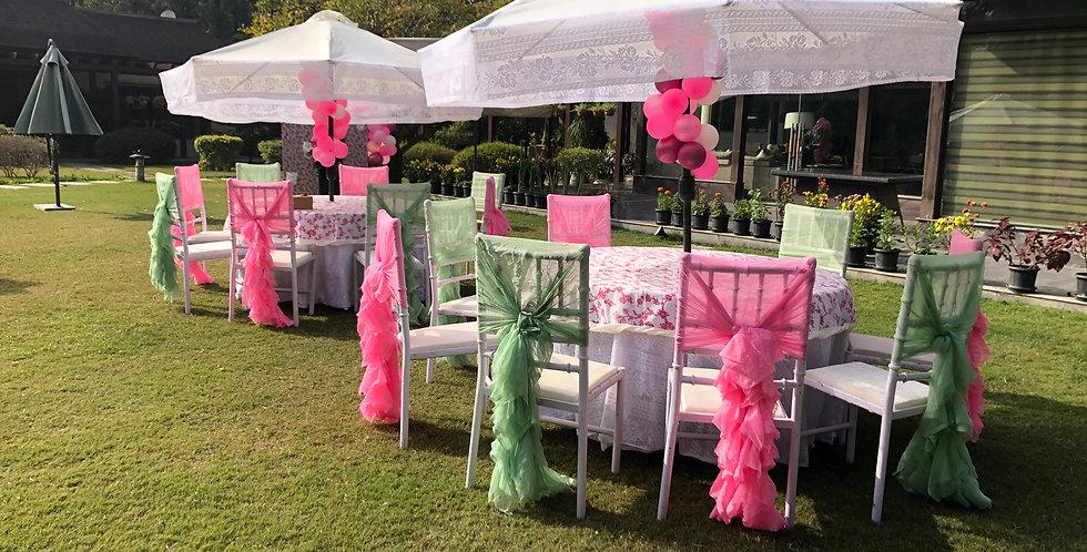 Garden Umbrellas with Sitting