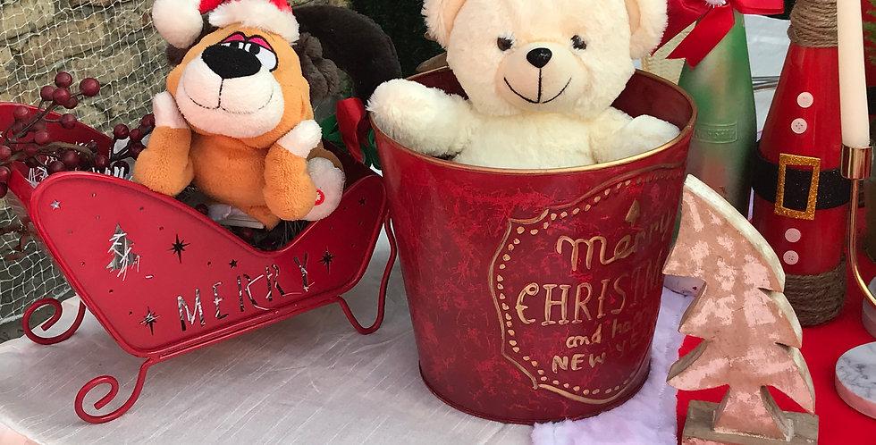 Merry Xmas Red Bucket