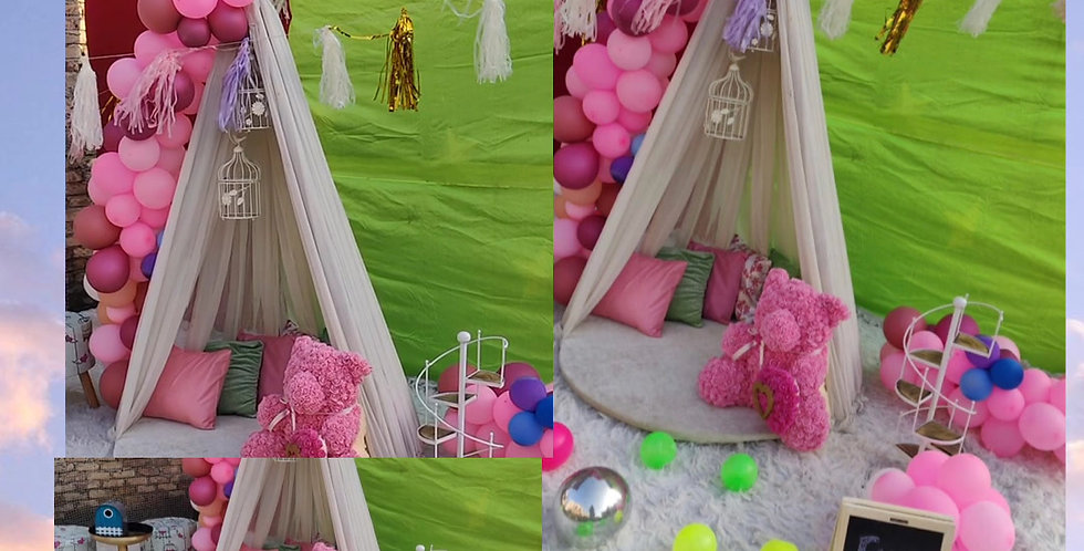 Kids Play Date Tent setup