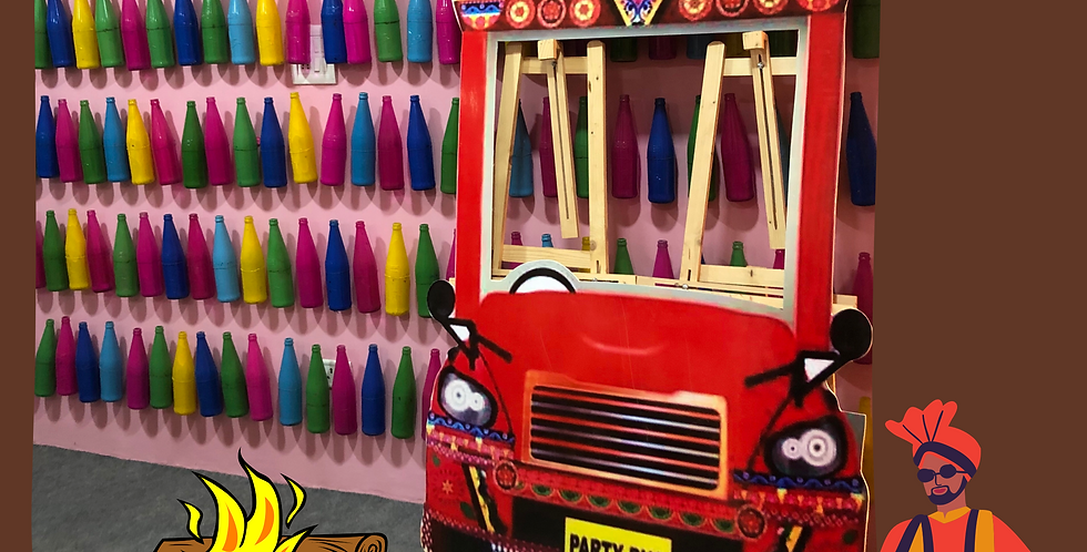 Truck Photo Booth with colored Bottles