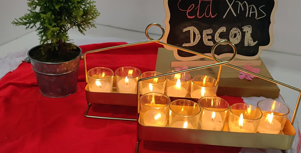 Candle Stand with 5 Glass Candles
