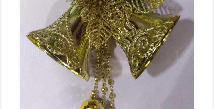 Golden Bell Hanging Ornaments