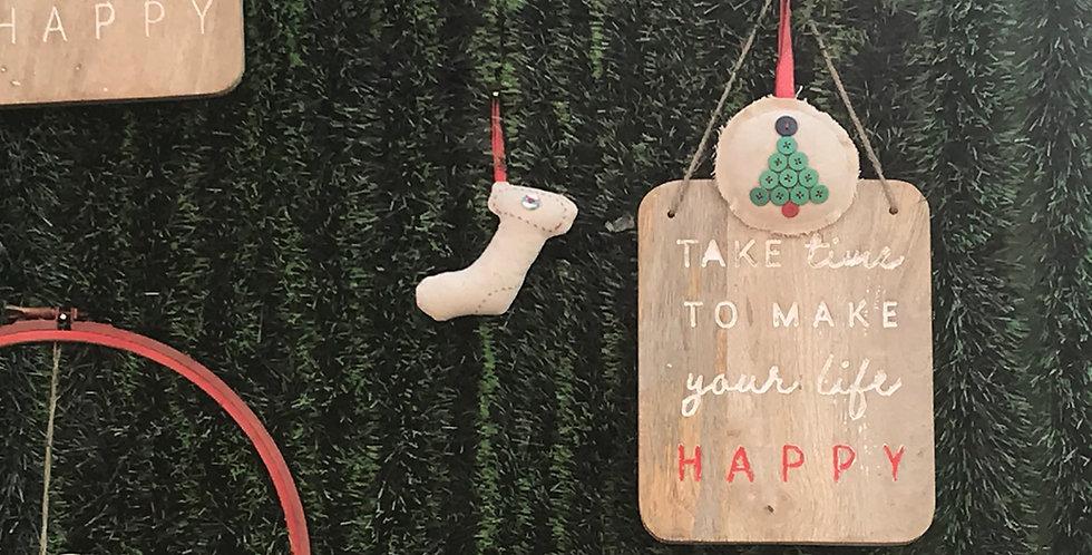Happy Xmas Wall Hanging