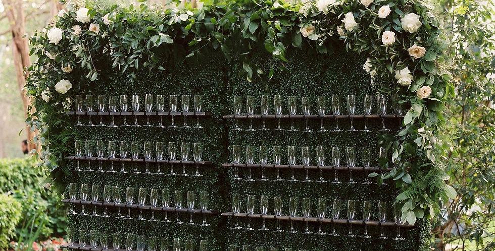 Champagne Glass Wall
