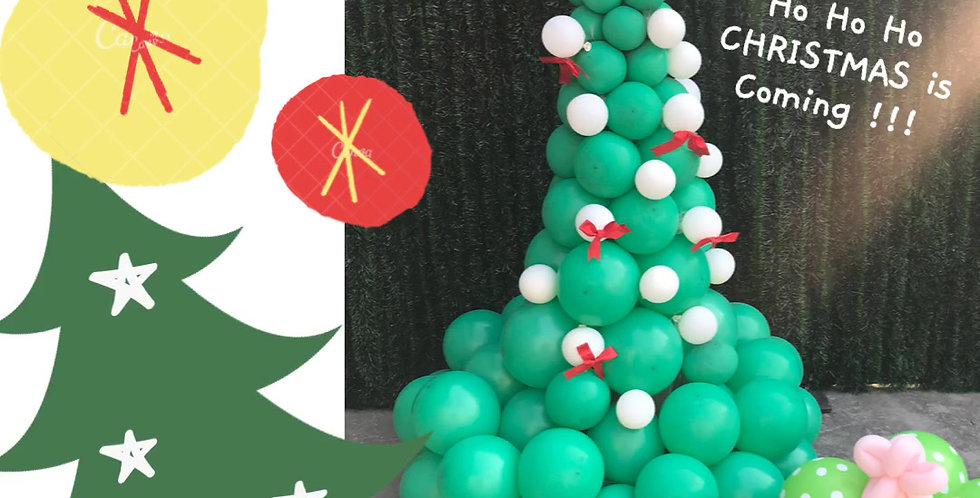 Xmas Tree Balloon POP-up Art