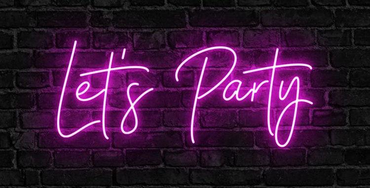 Lets Party Neon Light Sign