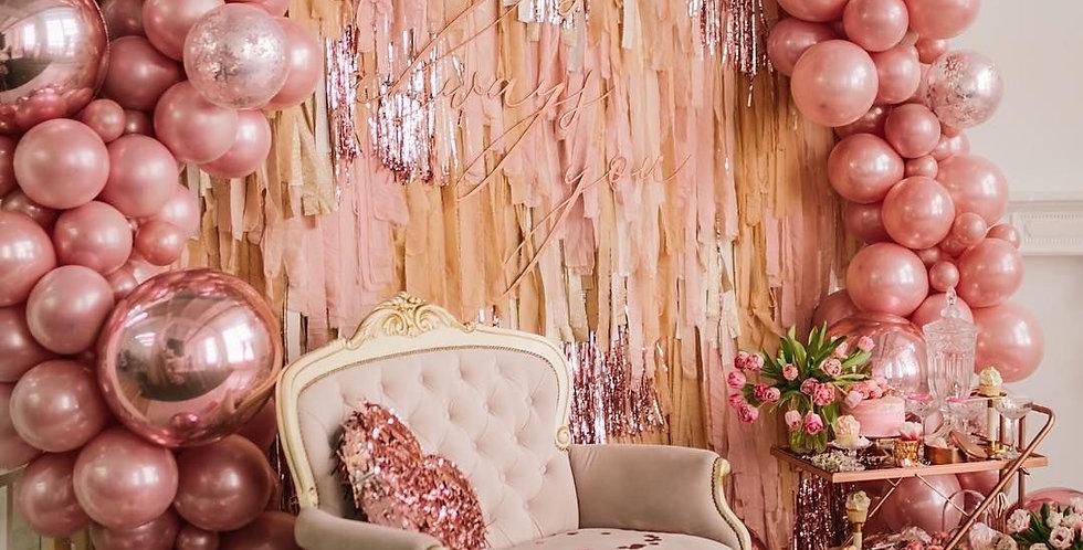 Stylised Rose Gold Photowall