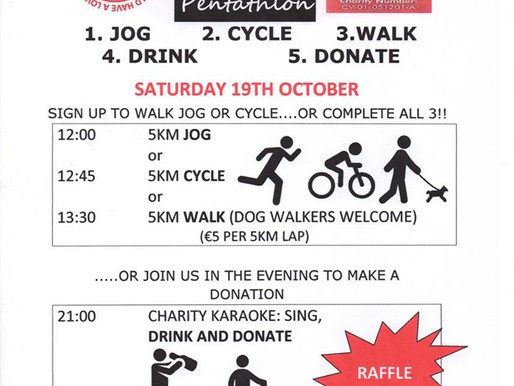 Pitch n Pint Charity Event 19th October.