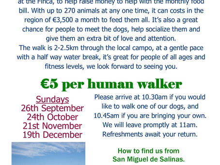 Next 4 Charity Walk dates.