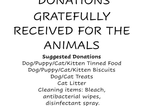 Donations urgently needed.