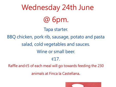 Charity BBQ, Wed 24th June.