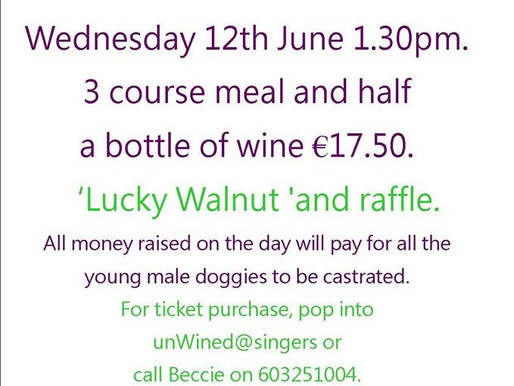 Nuts off! ladies lunch. Wed 12th June.