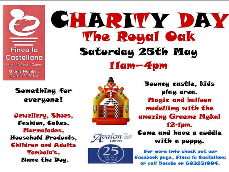 Charity event Sat 25th May at The Royal Oak.