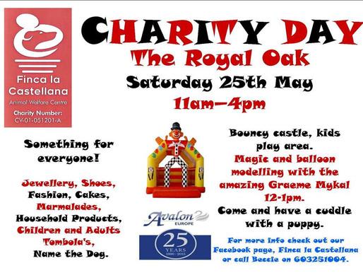 Charity event Sat 25th May at The Royal Oak.