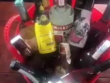 De-escalation Booze Bucket draw.
