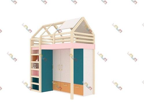 Кровать-домик со шкафом