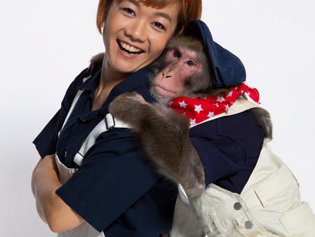 人間さながらの掛け合いに思わずクスッ!                          猿と人間の天才お笑いコンビ「ゆりありく」とは?