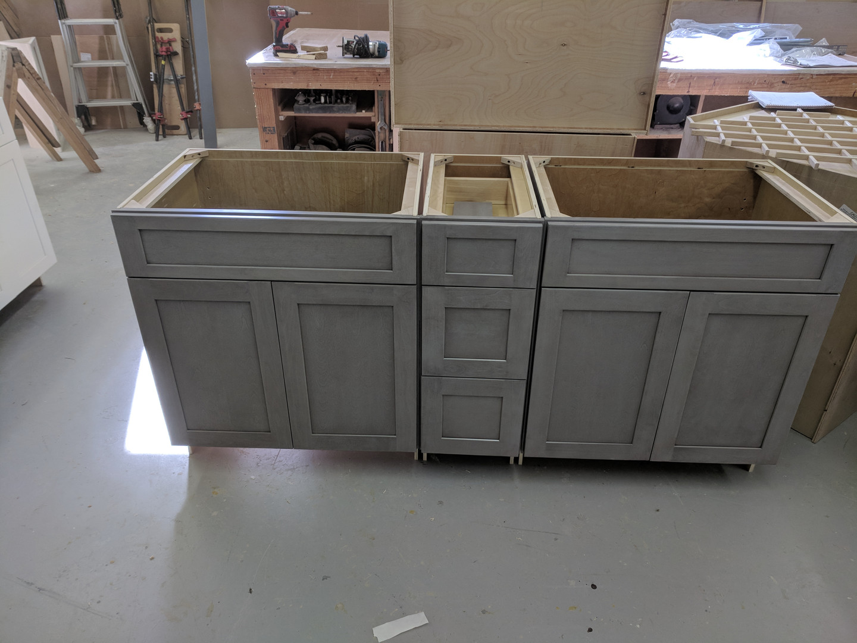 grey base cabinets