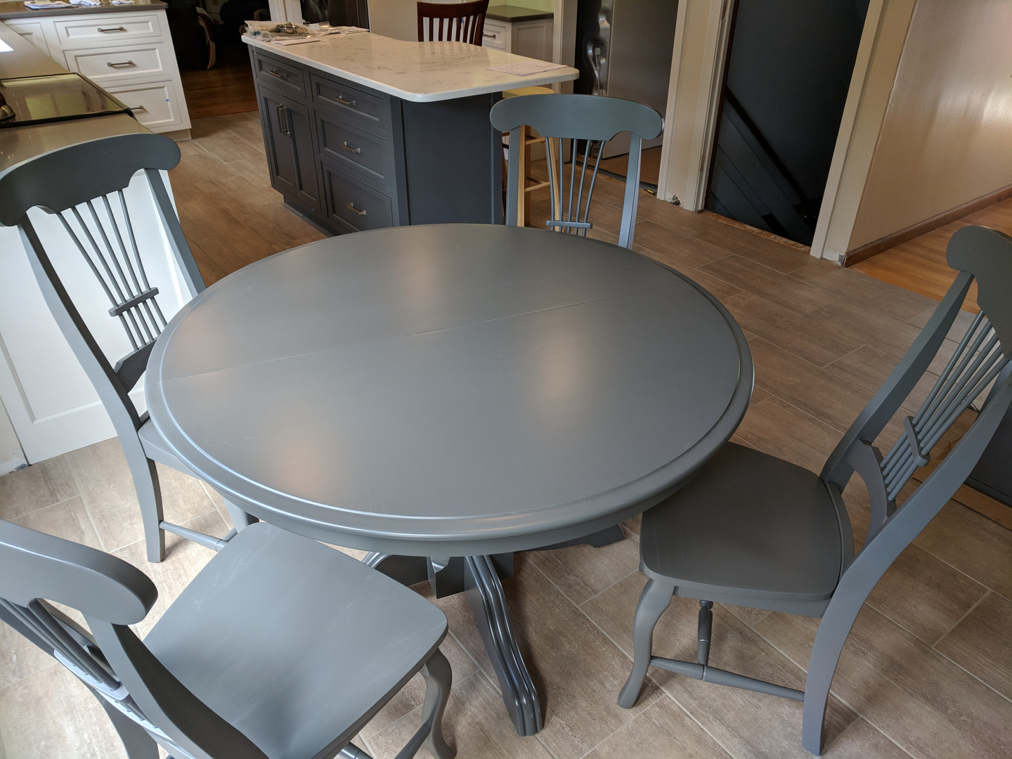 Table & Chairs finished to match island