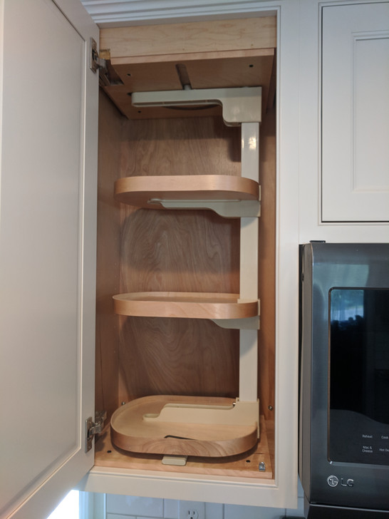 Spin rack in pantry