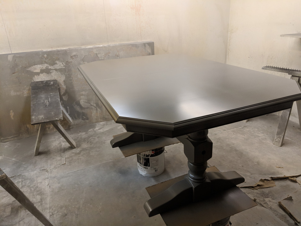 refinishing table to match island