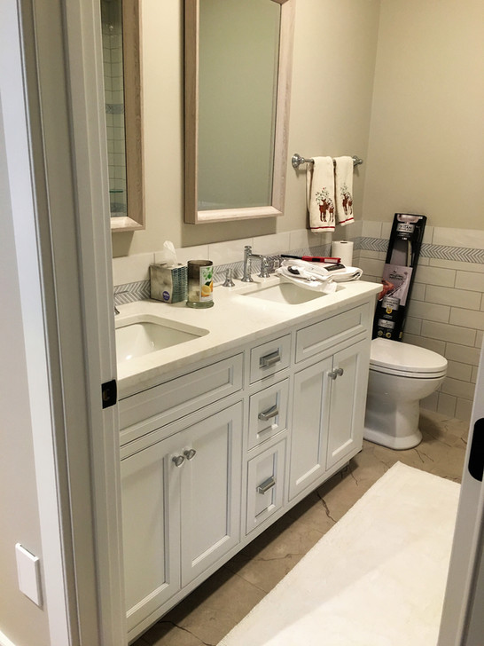 Double Square Sink