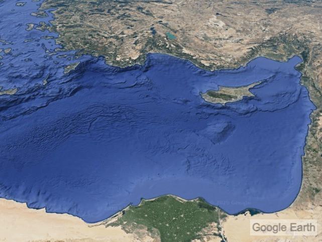 Doğu Akdeniz uydu görüntüsü