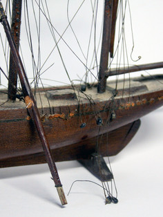 Ship hull before conservation