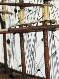 Masts and rigging after conservation