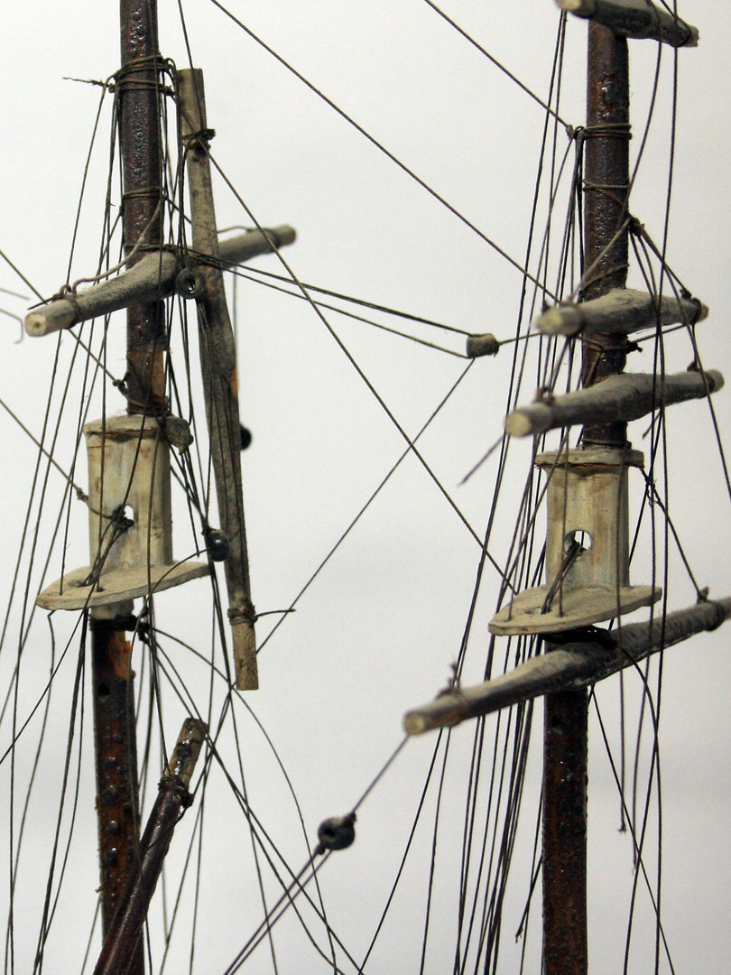 Masts and rigging before conservation