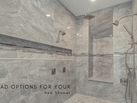 Rainhead Options for Your New Shower