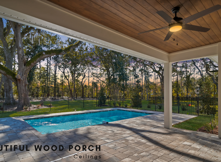 Beautiful Wood Porch Ceilings