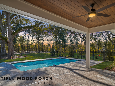 Beautiful Wood Porch Ceilings