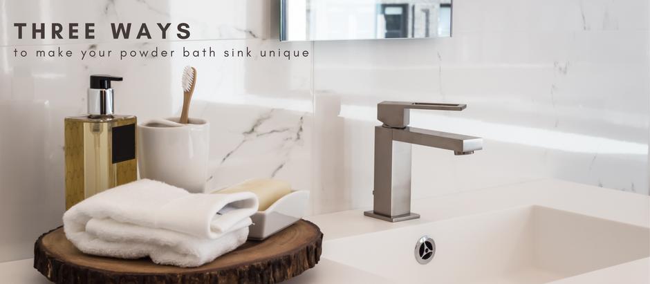 Three Ways to Make Your Powder Bath Sink Unique