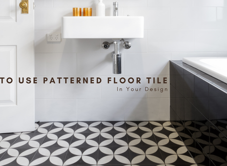 How to Use Patterned Floor Tile in Your Design